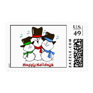 3 Singing Snowmen Postage