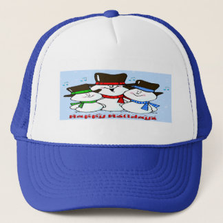 3 Singing Snowmen Trucker Hat
