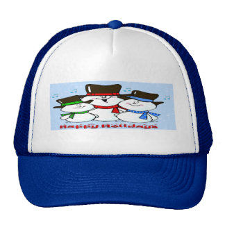 3 Singing Snowmen Trucker Hat