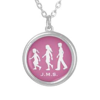 3 Sisters: Silhouettes of 3 Girls Custom Jewelry