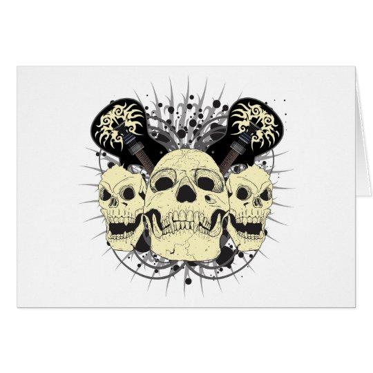 3 Skull Guitars Card