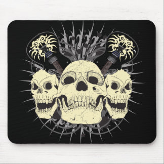 3 Skull Guitars Mouse Pads