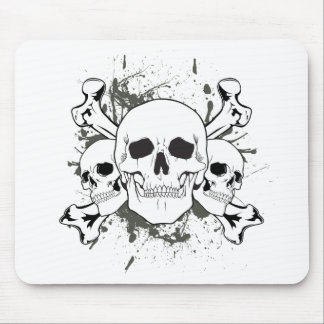 3 Skulls & Cross Bones Mouse Pad