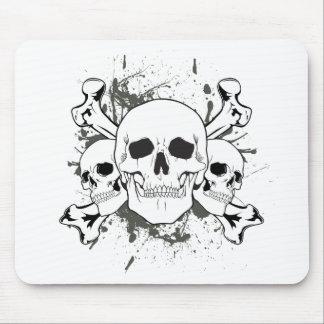 3 Skulls & Cross Bones Mouse Pad