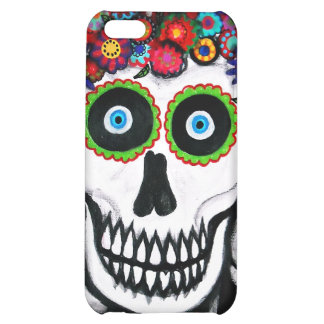 3 SKULLS RED COVER FOR iPhone 5C