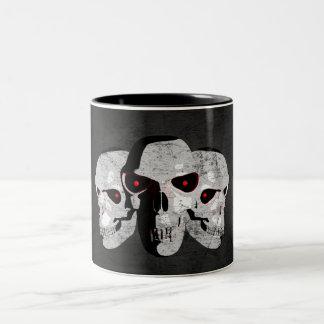 3 Skulls Two-Tone Coffee Mug