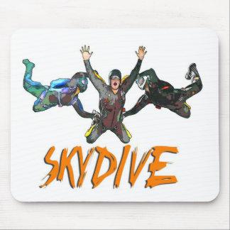 3 Skydivers - Orange Mouse Pad