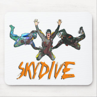3 Skydivers - Orange Mouse Pads