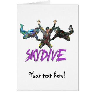 3 Skydivers - Purple Card
