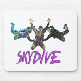 3 Skydivers - Purple Mouse Pad