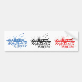 3 SMS Stickers - Blue, Black, and Red Car Bumper Sticker