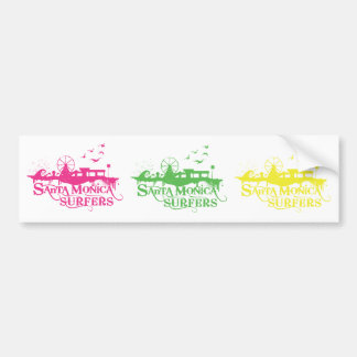 3 SMS Stickers - Pink, Green, Yellow Bumper Stickers