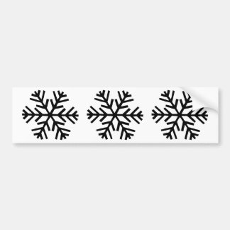 3 snowflakes icon bumper sticker