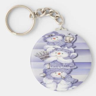 3 Snowmen - Keychain