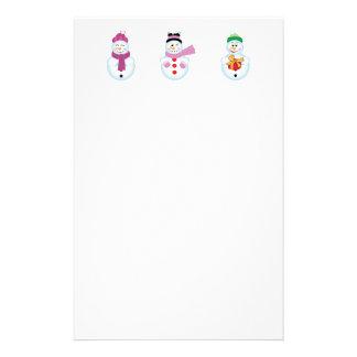 3 snowmen stationery