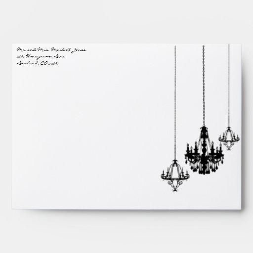 3 sobres del boda del damasco de la lámpara