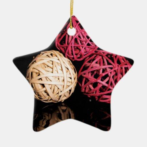 3 Spheres.jpg Adorno Navideño De Cerámica En Forma De Estrella