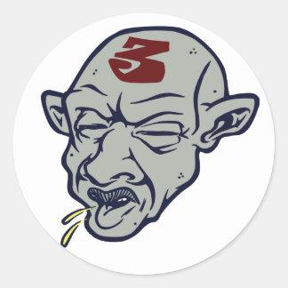 3 Spit Classic Round Sticker