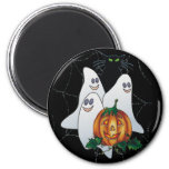 3 SPOOKS, CAT & JACK by SHARON SHARPE 2 Inch Round Magnet
