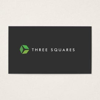 3 Squares Logo (Dark) Business Card