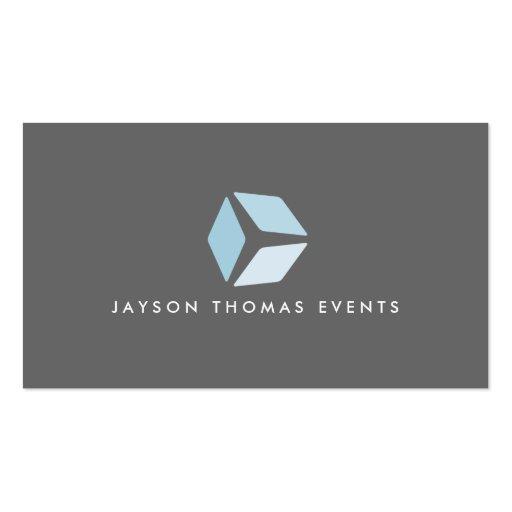 3 Squares Logo (Gray) Business Card