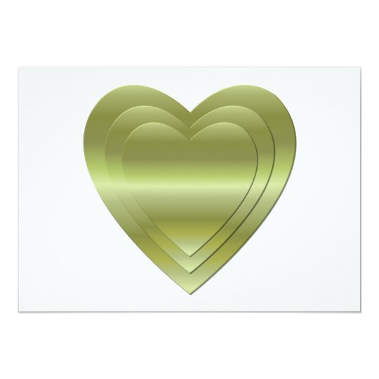 3 stacked gold hearts card