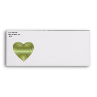 3 stacked gold hearts envelope