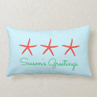 3 Starfish Season's Greetings Pillow
