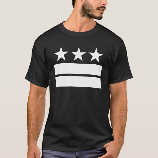 3 Stars 2 Bars Black T-shirt