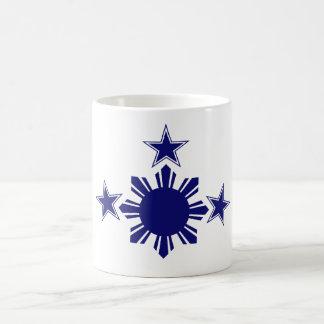 3 Stars & A Sun Blue Coffee Mug