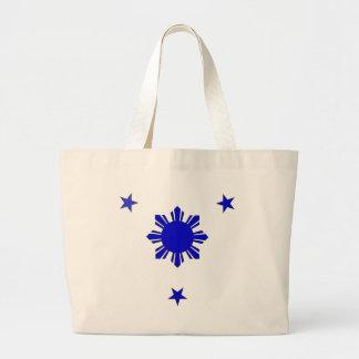 3 Stars & A Sun Large Tote Bag