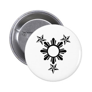 3 Stars and Sun Pinback Buttons