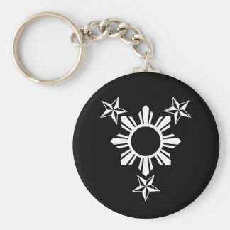 3 Stars and Sun Keychain