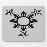 3 Stars and Sun Mouse Mats
