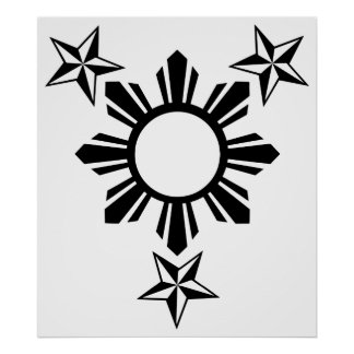3 Stars and Sun Poster