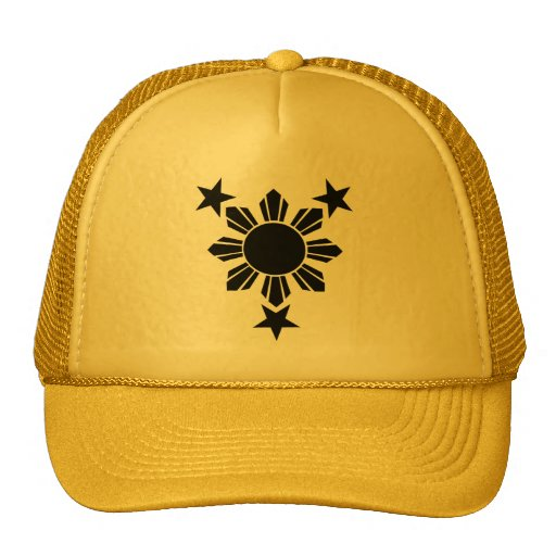 3 Stars and Sun Solid (Caps) Trucker Hat