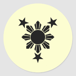 3 Stars and Sun Solid (Sticker)