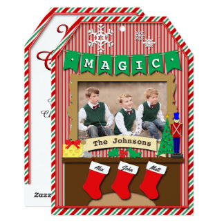 3-Stocking Dated Twas the Night Before Christmas Card