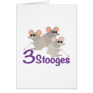 3 Stooges Card