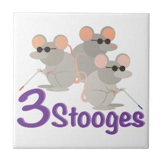 3 Stooges Ceramic Tile