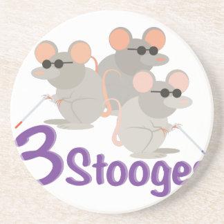 3 Stooges Coaster