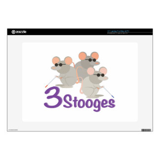 """3 Stooges Decals For 15"""" Laptops"""