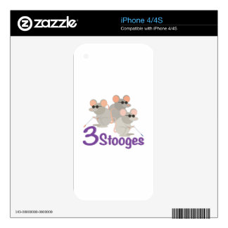 3 Stooges iPhone 4S Decal