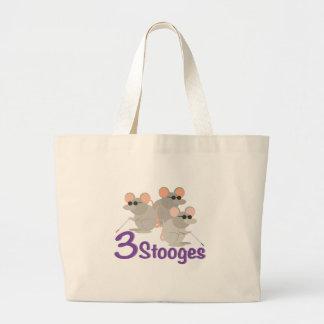 3 Stooges Large Tote Bag