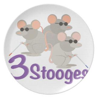 3 Stooges Melamine Plate