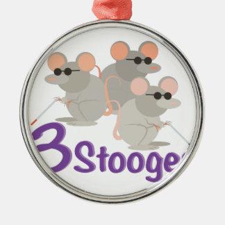 3 Stooges Metal Ornament