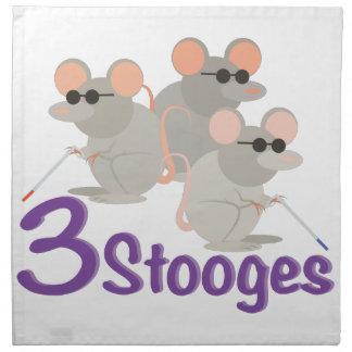 3 Stooges Napkin