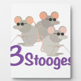 3 Stooges Plaque
