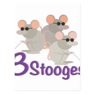 3 Stooges Postcard