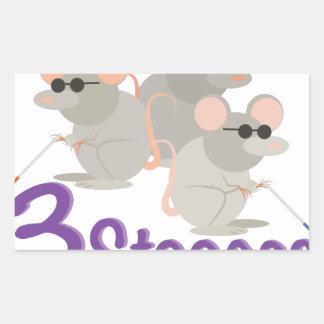 3 Stooges Rectangular Sticker